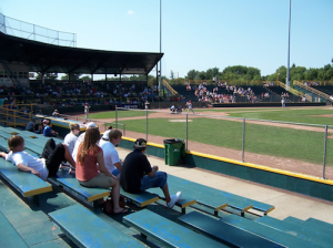 Waterloo, Iowa.  I spent many summer nights in ballparks just like this