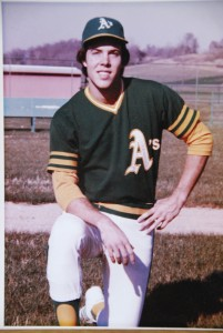 A faded old photo of the minor leaguer who had one remarkable day...